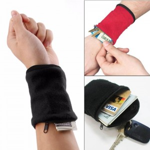 Wallet Wrist Bag Fitness Band Wristband Travel Cycling Sport Wallet