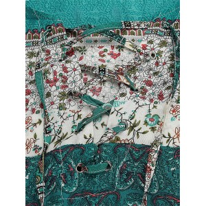Bohemian Women Flounce Bell Sleeve Floral Printed V-neck Mini Dresses
