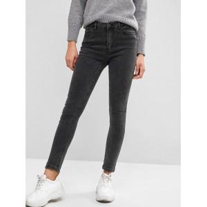 Basic Skinny Jeans - Dark Gray S