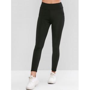 Back Pocket High Waisted Ninth Leggings - Black L