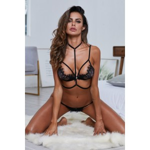 Black Bra&String Shameless Set