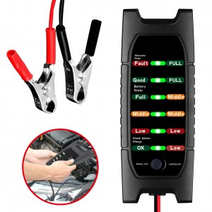 12V Car Battery Tester 6 LED Alternator Check Analyzer Lead Diagnostic Tool