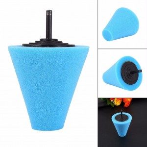 1PC Car Wheel Hub Polish Buffing Shank Polishing Sponge Cone Metal Foam Pad