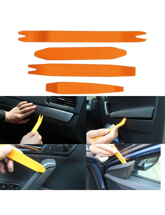4Pcs/Set Auto Car Radio Door Clip Panel Trim Dash Audio Removal Installer Pry Tool