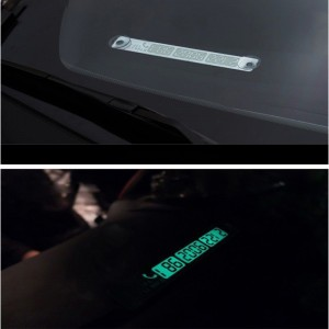Car Parking Card Luminous Temporary Phone Number Card Plate Notification Accessories