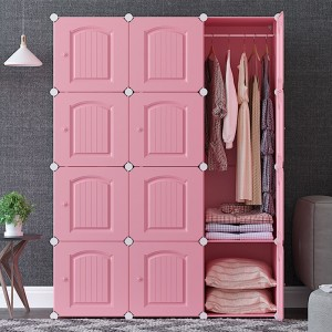 1 Piece Home Wardrobe Simple Solid Color Large Capacity Clothes Wardrobe