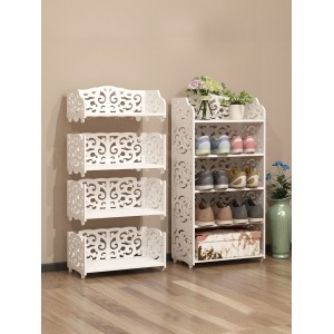 1Pc Home Shoes Rack Modern Hollow Carved Pattern European Style Shoes Cabinet