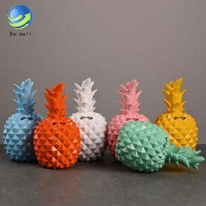 1 Piece Pineapple Shape Coin Bank Nordic Style Home Desktop Decor
