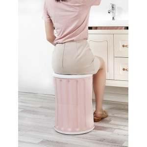 1Pc Home Storage Box Multi Functional Solid Color Durable Stool Box