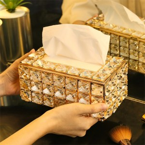 1 Pc Tissue Storage Box Luxurious Style Living Room Desktop Paper Holder