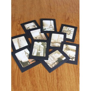 10 Pcs Cardboard Suspension Album 6 Inch DIY Photo Frame with 10pcs Clips and a Rope